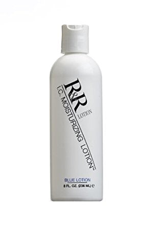 R & R Lotion ICL-8 I.C. Blue Pregloving Anti-Static Moisturizing Lotion, 8 oz. Bottle