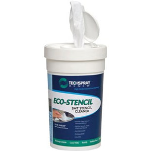 Techspray 1570-100DSP Eco-Stencil Wipes, Tub of 100 Wipes