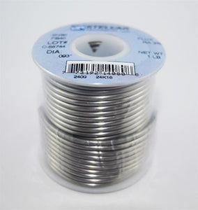 "Sn60/Pb40 (60/40) Rosin Core Solder Wire .093"" Diameter - 1 LB Spool"