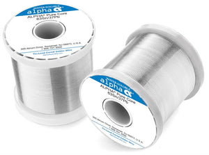 "Alpha 63/37 PureCore Water-Soluble .015"" Diameter Solder Wire, 1 LB Spool"