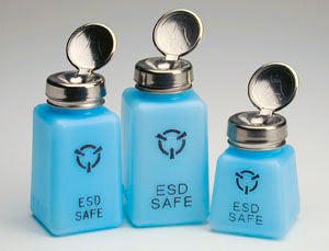 R & R Lotion SD-8-ESD 8 oz ESD-Safe Solvent Dispenser, One-Touch Pump