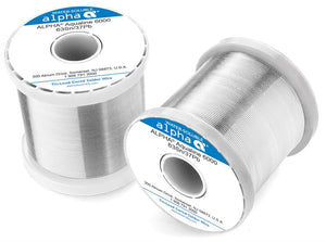 "Alpha 63/37 Aqualine 6000 Water-Soluble .032"" Solder Wire, 1 LB Spool"