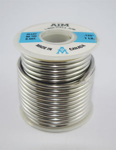 "95/5 Lead-Free .125"" Diameter Solid Solder Wire, 1 LB Spool"
