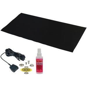 "Desco 42542 Statfree Z2 3-Layer Black Vinyl Table Mat, 24"" x 48"""