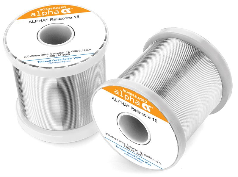 Alpha 110261, Sn10/Pb88/Ag2 High-Temp Solder Wire, Reliacore .032