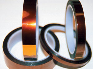 "K321 Polyimide Kapton Film Tape - 1/2"" Wide, 2.6 mil Overall Thickness"