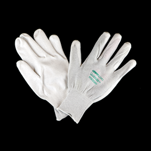 QRP PDESDNY Palm-Dipped Nylon ESD Gloves - Large, Pack of 12 Pairs