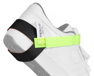 Desco 07599 ESD Heel Grounder with Hi-Vis Lime Green Strap