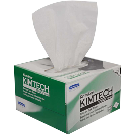 "KimTech 34155 Science Wipes 4.4"" x 8.4"" - Case of 60 Boxes, 280 Wipes per Box"