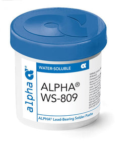 Alpha 148974, WS809 Sn63 Water-Soluble Solder Paste - Type 3, 500 gram Jar