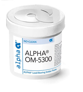 Alpha 151855, OM-5300 No-Clean Solder Paste, Sn63, 500g Jar