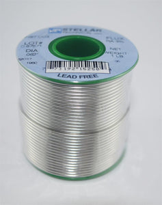 "97/3Cu Lead-Free Rosin Core .062"" Diameter Solder Wire, 1 LB Spool"