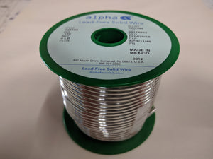 "Alpha 148186,  SAC305 Lead-Free .125"" Diameter Solid Solder Wire on 4 LB SPOOL"