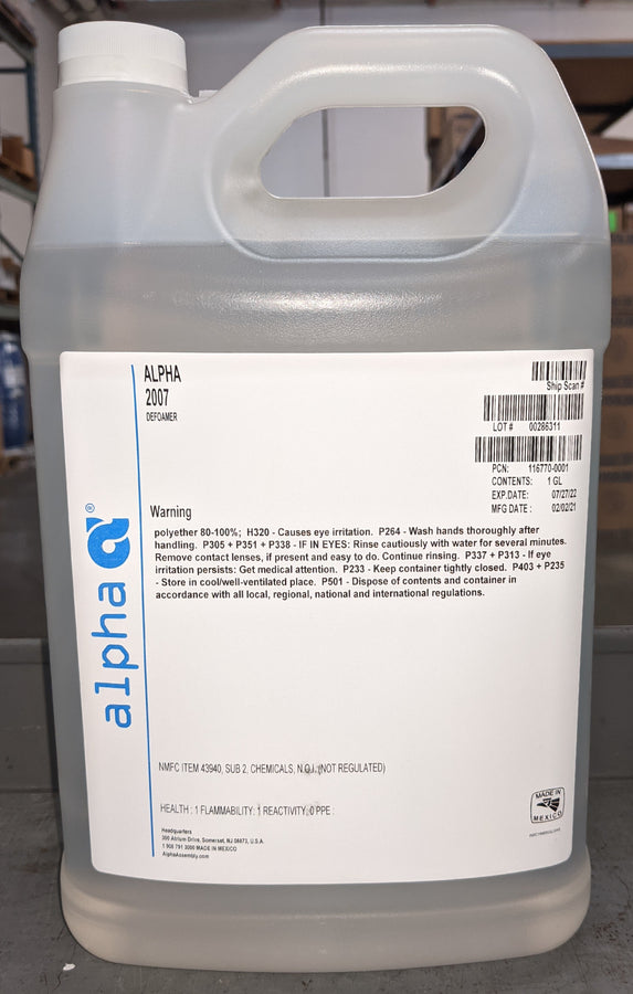 Alpha Metals 116770-0001, 2007 Defoamer - 1 Gallon