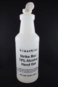 "#8989 ""Strike Bac"" Antibacterial Hand Sanitizer Gel - 32 oz. (Quart) Bottle"
