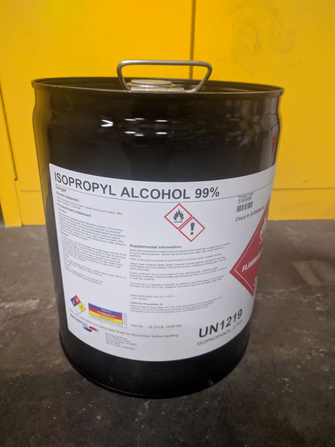 Isopropyl Alcohol, 99+ % High-Purity, 5 Gallon Pail