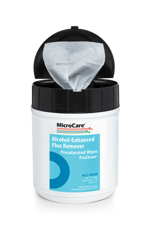 Micro Care MCC-PROW Stencil Wipes with ProClean High-Purity Alcohol Blend, Tub of 100 Wipes