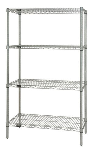 Quantum Chrome Wire Shelving Starter Kit WR74-2448C