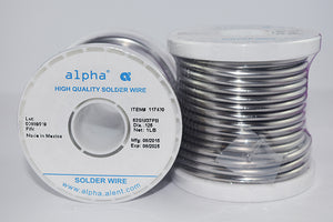 "Alpha Sn63/Pb37 Solid .125"" Diameter Solder Wire - 1 lb Spool"