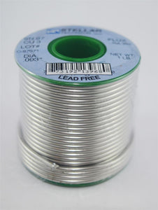"97/3Cu Lead-Free Rosin Core .093"" Diameter Solder Wire, 1 LB Spool"