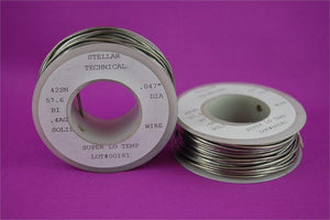 "Super-Low Temp Lead-Free Solder Wire .047"" Diameter, 1/4 LB Spool"