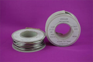 "Super-Low Temp Lead-Free Solder Wire For Pewter .062"" diameter, 1/4 LB Spool"