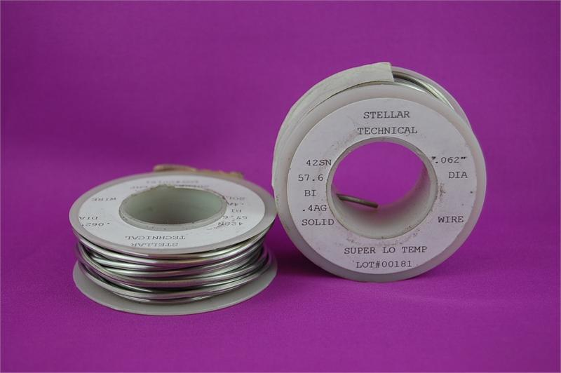 Super-Low Temp Lead-Free Solder Wire For Pewter .062