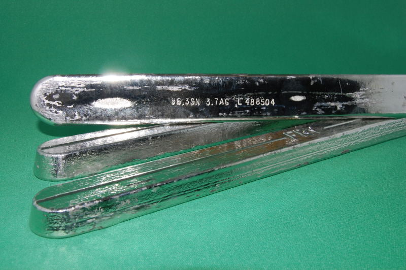 Sn96 Lead-Free Solder Bar, J-STD, 96.3Sn/3.7Ag, 1 LB Bar