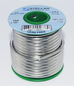 "Select-Free AQ Lead-Free .125"" Diameter Solid Solder Wire, 1 LB Spool"