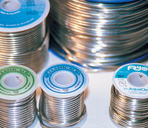 "50/50 Solid .125"" Diameter Wire Solder - 25 lb Spool"
