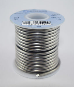 "50/50 Select .125"" Diameter Premium Solid Solder Wire - 1 lb Spool"