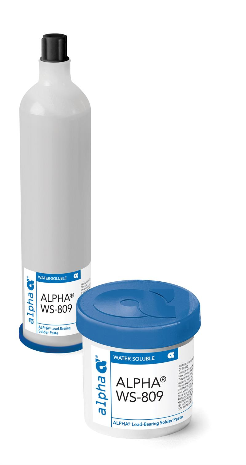 Alpha 148969, WS809 Sn63 Water-Soluble Solder Paste - Type 3, 700 gram Cartridge