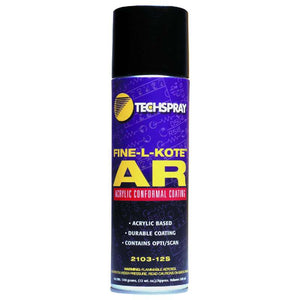 Techspray 2103-12S Fine-L-Kote AR Acrylic Conformal Coating, 12 oz Aerosol