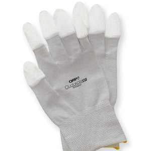 QRP TDESDNY Tip-Dipped Nylon ESD Gloves - Medium, Pack of 12 Pairs