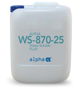 Alpha 116125-0005, 870-25 Water-Soluble Soldering Flux - 5 gal Pail