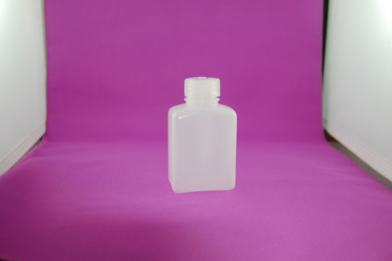 Acid/Flux Bottle, Wide Mouth - 4 oz Rectangular HDPE Bottle