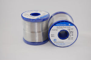 "Alpha 63/37 PureCore Water-Soluble .032"" Diameter Solder Wire, 1 LB Spool"