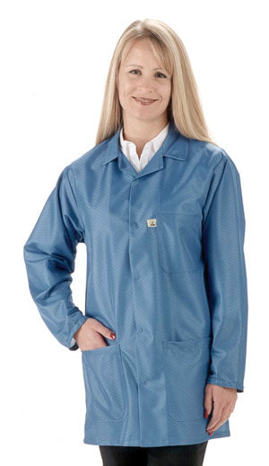 Tech Wear LEQ-43 Econoshield Blue ESD Smock, Small
