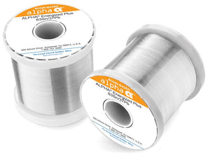 "Alpha 63/37 Energized-Plus Rosin .032"" Diameter Solder Wire, 1 LB Spool"