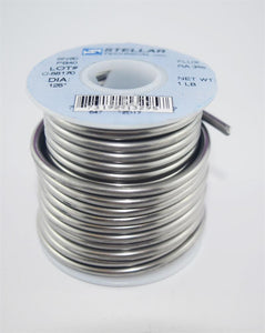 "Sn60/Pb40 Rosin Core .125"" Diameter Solder Wire - 1 LB Spool"