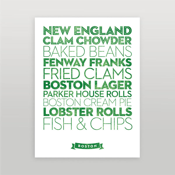 Boston — Delicious City Prints