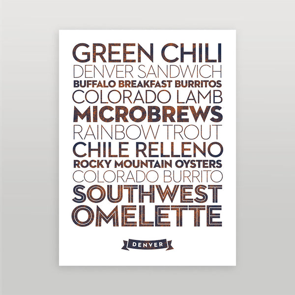Denver — Delicious City Prints