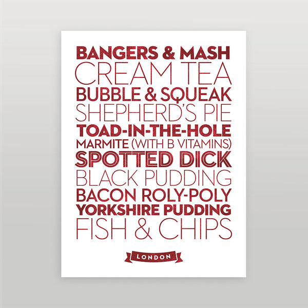 London — Delicious City Prints