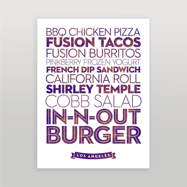 Los Angeles — Delicious City Prints