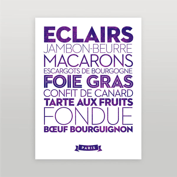 Paris — Delicious City Prints