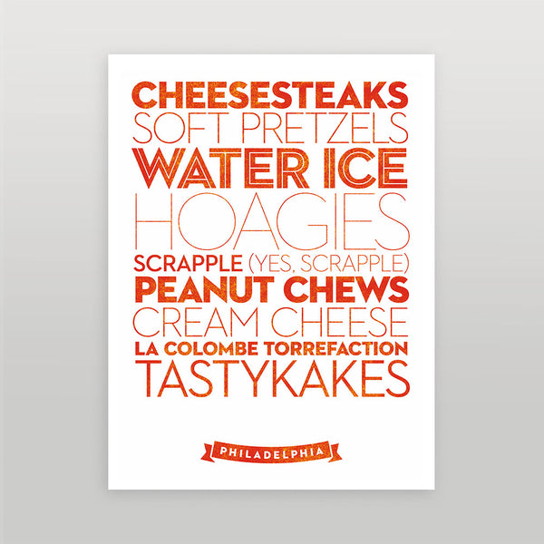 Philadelphia — Delicious City Prints