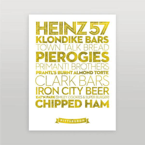 Pittsburgh — Delicious City Prints