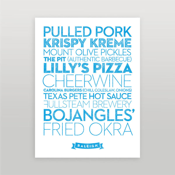 Raleigh — Delicious City Prints
