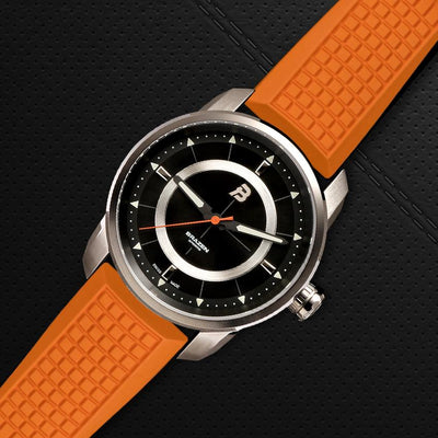 Orange Rubber Watch Strap