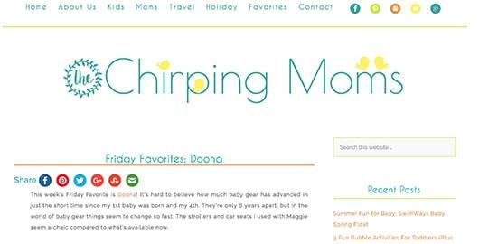 Chirping Moms Review